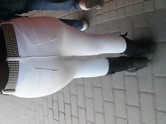 Excellent Naughty ass From Cutie With White Pants