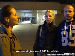 Gorgeous Czech Pair Gets Money for Girlfriend Exchange
