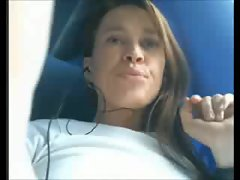 Filthy amateur Fingering in the bus!