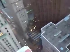 43rd floor balcony cock sucking and cumshot