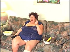 SSBBW find enjoyment in gangbang