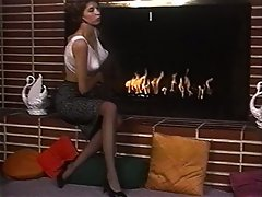 LIGHT MY FIRE - vintage stockings extremely large tits striptease