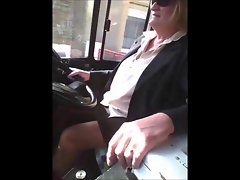 Spy Attractive mature bus-driver legs