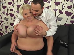 Top heavy slutty mom screws 19yo pal