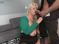 Superb dirty wife and momma fuck 19 years old fellow