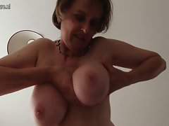 Obscene slutty mom with big melons