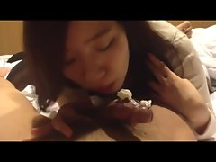 korean college young woman stroking dick