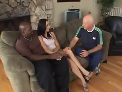 Ebony Cuckold his Slutty wife with Ben English