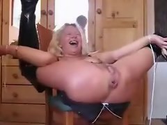 Granny Squirts Like Wild From Asshole