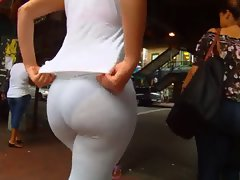 see through bum leggings culona