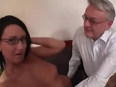 seductive dark haired loved by sex careful daddy