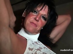 Chesty momma wild fucked in a sex-shop basement