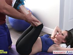 Tiny titted athlete Kendra Khaleesi accept penis