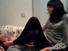 Amateur saucy teens socks & foot worship