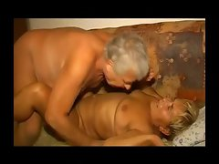 Plump lusty granny gets her shaggy pussy fondled and banged R20