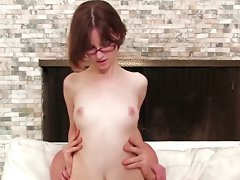 Charming Skinny Young woman Jay Talk & Ride Pecker