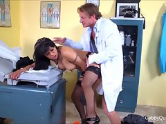 MexiMILF Gabby Quinteros Caresses & Bangs Her Doctor!