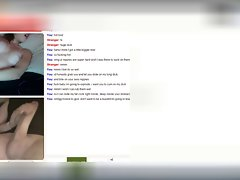 Lewd slutty girl on Omegle rubbing her dripping snatch under her panties
