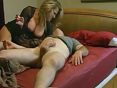 Cougar wakes up her husband and rides him