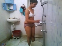 Sensual indian College Slutty girl In Hostel Shower