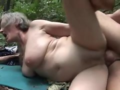 randy granny banged by a woodcutter