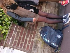 french candid barely legal teen pantyhose