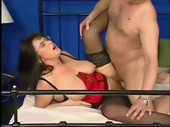 Top heavy German Attractive mature In Lingerie & Glasses Banged