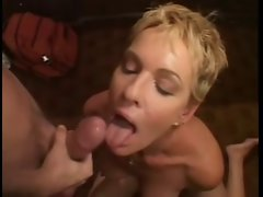 SHORT HAIRED Light-haired Filthy bitch GETS Grinded