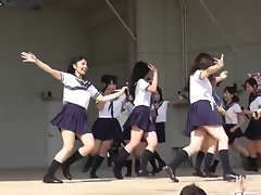 Stunning Seductive japanese Students Dance