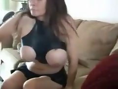 Big titted girl in latex sucks