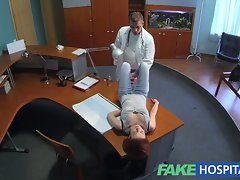 FakeHospital Diminutive redheads tempting skills makes doctor cum