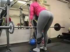 wow!!! fitness filthy Naughty ass attractive blondie