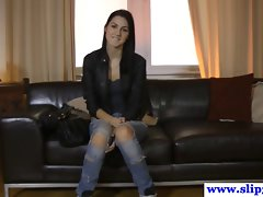 Tall euro student point of view casting pecker riding
