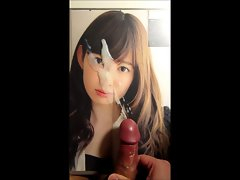 Cumtribute for Sensual japanese idol Haruna Kojima 03