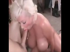 Artificial hooters whore banged wild in the butt