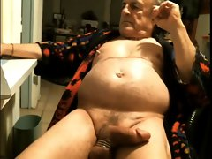 Brutal nipples grandpa with filthy pecker and belly