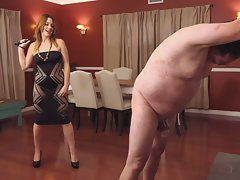 Wild singletail whipping by mistress Jennifer