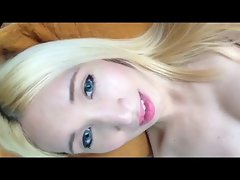 Blond ladyboy says HI