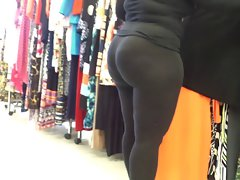 Lustful ebony Mum Amazingly Round Bubble Butt! VPL