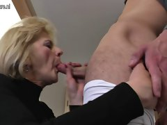 Sensual aged stepmom and dirty wife banging her toy lad