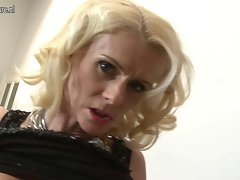 Lewd light-haired mature whore banging in Point of view style