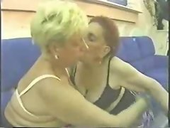 True amateur lez grannies having fun
