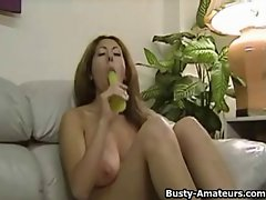 Top heavy amateur Lilliana jerksoff on her first shot