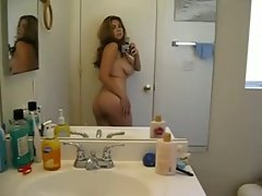 Latina show in a mirror