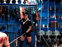 Extreme caning 220 caresses from brutal mistress in uniform