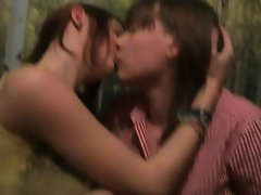 Butch sassy teen kissing homemade (compilation)