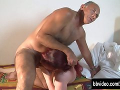 Tattooed german tart gets double banged