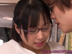 Innocent asian firsttimer geek banging in glasses