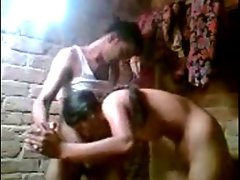 Desi young lady bathing and screwing with bf