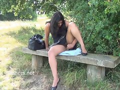 Seductive indian amateur Kikis public nudity and outdoor masturbation